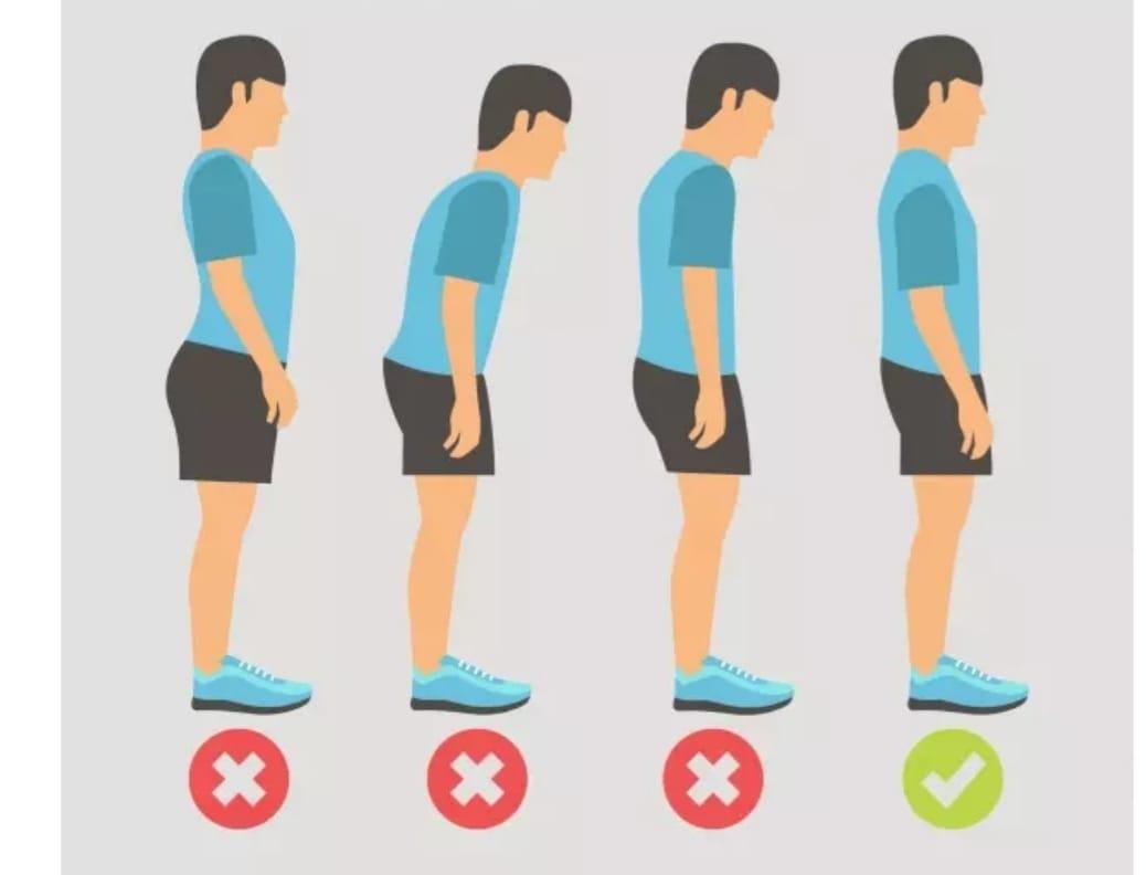 postura correta ao caminhar